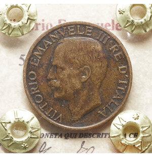obverse: Vittorio Emanuele III. 5 Centesimi 1922. BB\SPL. Periziata