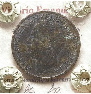 obverse: Vittorio Emanuele III. 5 Centesimi 1922. BB+. Periziata