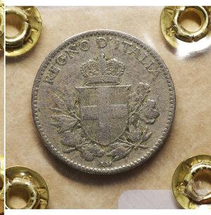 reverse: Vittorio Emanuele III. 20 Centesimi 1919. BB. Periziata