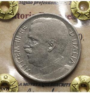 obverse: Vittorio Emanuele III. 50 Centesimi 1920. BB+. Rigato. Periziata