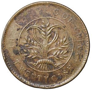 obverse: China Republic. Hunan Province. 20 cash 1919. Y# 400,2. VF+