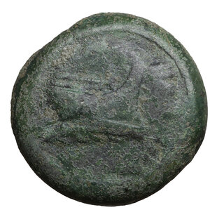 obverse: MYSIA. Kyzikos. 3rd century BC. Bronze. 15.95 gr. – 26.3 mm. O:\ Prow of galley to right. R:\ KY-ZI around monogram; the whole within oak wreath. SNG France 438 var. Rare. VF+