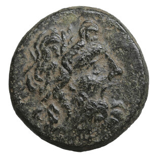 obverse: PAPHLAGONIA. Sinope. 100-85 BC. Bronze. 8.25 gr. – 19.8 mm O:\ Laureate head of Zeus to right. R:\ ΣINΩΠHΣ Eagle standing left on thunderbolt, with his head turned back to right. HGC 7, 415. SNG BM Black Sea 1526-1527. aXF