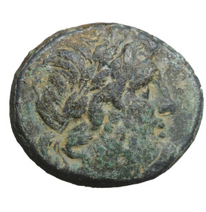 obverse: Phrygia. Apameia. after 133 BC. Bronze. 5.90 gr. – 20.7 mm. O:\ Laureate head of Zeus right. R:\ AΠAMEΩN cult-statue of Artemis Anaitis seen from front. SNG München 123; SNG Tübingen 3967. VF