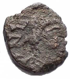 obverse: Barbariche - Vandali ? Nummo Ae. gr 0,58. mm 8,86 x 9,83
