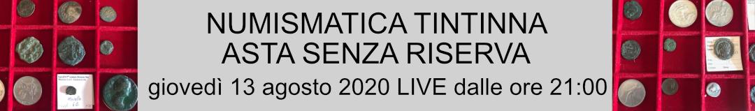 Banner Tintinna Asta Senza Riserva Agosto 2020