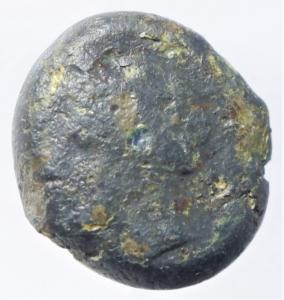 obverse: Mondo Greco. Cartagine. Siculo Punica. III sec. a.C. AE. D/ Testa di Tanit verso sinistra. R/ Cavallo verso destra. Peso 6,45 gr. Diametro 13,00 mm. qBB.Moneta di notevole spessore oltre i 5 mm