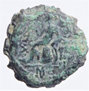 reverse: Mondo Greco. Lydia. Sardes. Antioco III. 133 a.C. D\ Testa laureata di Herakle verso destra. R\ Apollo entro cerchio di lauro. Peso 2,75 gr. Diametro 12,3 mm. BB....
