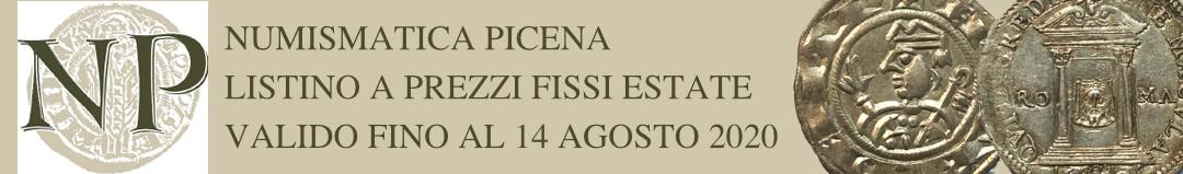 Banner Numismatica Picena - Listino a prezzi fissi estate 2020