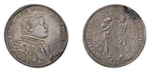 obverse: Firenze. Ferdinando I de Medici (1587-1609). Piastra 1589 AG gr. 32,16. Galeotti XXVII, 1/16. MIR 224/2. Ex asta NAC 47/2008, 151. BB