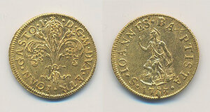 obverse: Firenze. Gian Gastone de Medici (1723-1737). Zecchino 1733 AV gr. 3,45. Galeotti II, 11. MIR 345/10. Ex asta NAC 53/2009, 52. q.SPL