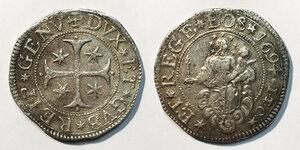 obverse: Genova. Dogi biennali (1528-1797). Serie della III fase: 1637-1797. Scudo 1694 (sigla I-T-C) AG gr. 38,36. Lunardi 260. MIR 294/57. BB