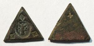 obverse: Napoli. Epoca angioina (secc. XIII-XIV). Peso monetale del carlino o gigliato AE gr. 3,76.