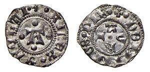 obverse: Pesaro. Alessandro Sforza (1445-1473). Bolognino AG gr. 0,94. CNI T. XXIV, 4. Cavicchi PS, 4. Molto raro. Conservazione eccezionale per questo tipo di moneta, più di SPL