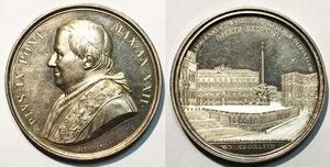 obverse: Roma. Pio IX (1846-1878). Medaglia anno XXII/1867 AG gr. 34,21 diam. 43,5 mm. Opus Ignazio Bianchi. Per la sistemazione della scalinata di piazza del Quirinale. Bartolotti E867. q.FDC