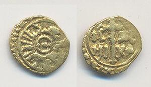obverse: Sicilia. Ruggero II re (1105-1154) Tarì (Palermo o Messina) AV gr. 0,82. Sphar 66. BB