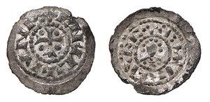 obverse: Venezia. Enrico IV o V (1056-1125). Denaro AG gr. 0,44. Paolucci 1. MEC12, 69/70 (Enrico V). Ex Numismatica Picena listino 2/2009, 665. q.SPL