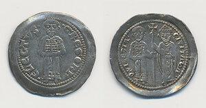 obverse: Aquileia. Gregorio di Montelongo (1251-1269). Denaro AG gr. 0,93. Bernardi 18. MEC 12, 840. Molto raro. Leggera patina e migliore di BB