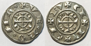 obverse: Verona. Emissioni comunali sec. XIII (1220-1280). Grosso da 20 denari AG gr. 1,66. CNV, VR 28d. MEC 12, 1405 (Ezzelino da Romano). SPL
