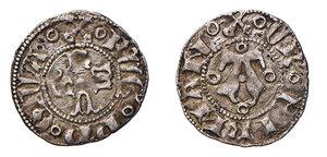 obverse: Fermo. Eugenio IV (1446-1447). Bolognino AG gr. 0,80. Muntoni 37. Berman 316. Ex asta Raffaele Negrini 29/2009, 851. Raro. BB