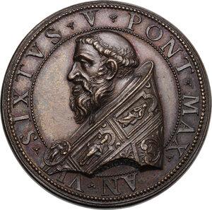 obverse: Sisto V (1585-1590), Felice Peretti.. Medaglia, A. VI