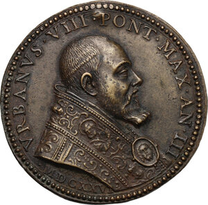 obverse: Urbano VIII (1623-1644), Maffeo Barberini. Medaglia A. III, per la chiusura della Porta Santa