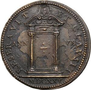 reverse: Urbano VIII (1623-1644), Maffeo Barberini. Medaglia A. III, per la chiusura della Porta Santa