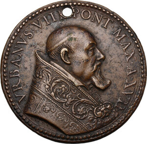obverse: Urbano VIII (1623-1644) Maffeo Barberini.. Medaglia A. XVII, per il primo centenario della fondazione Compagnia di Gesú