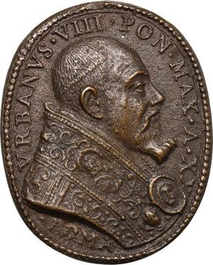obverse: Urbano VIII (1623-1644), Maffeo Barberini.. Medaglia ovale, A. XX