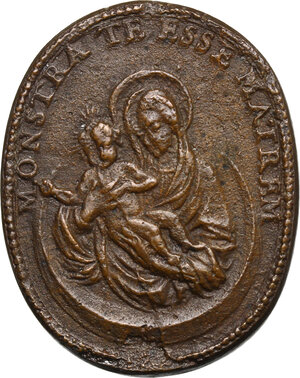 reverse: Urbano VIII (1623-1644), Maffeo Barberini.. Medaglia ovale, A. XX