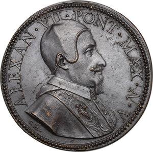obverse: Alessandro VII (1655-1667), Fabio Chigi.. Medaglia, A. V