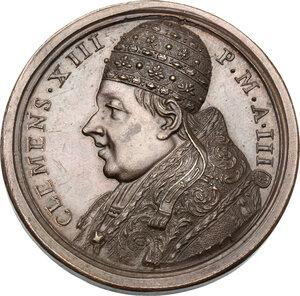 obverse: Clemente XIII (1758-1769), Carlo Rezzonico. Medaglia A. III, per la beatificazione di Gregorio Barbarigo