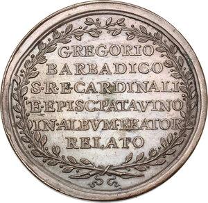 reverse: Clemente XIII (1758-1769), Carlo Rezzonico. Medaglia A. III, per la beatificazione di Gregorio Barbarigo