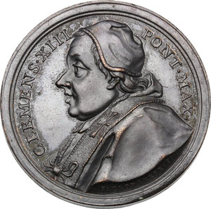 obverse: Clemente XIII (1758-1769), Carlo Rezzonico. Medaglia A. III, per la scoperta dei giacimenti di ferro e argento a Polino Castello