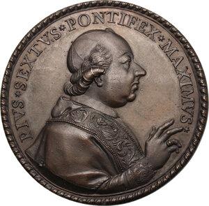 obverse: Pio VI (1775-1799), Giovanni Angelo Braschi. Medaglia di devozione a Gesù