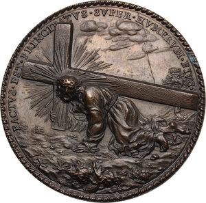 reverse: Pio VI (1775-1799), Giovanni Angelo Braschi. Medaglia di devozione a Gesù