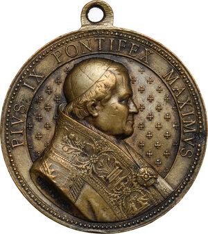 obverse: Pio IX  (1846-1878), Giovanni Mastai Ferretti. Medaglia 1877 per il Giubileo Episcopale