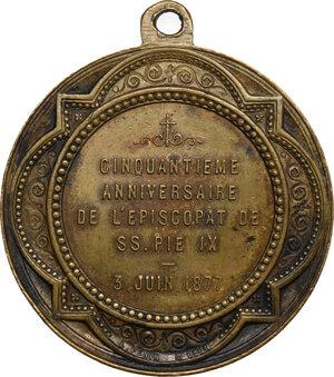reverse: Pio IX  (1846-1878), Giovanni Mastai Ferretti. Medaglia 1877 per il Giubileo Episcopale