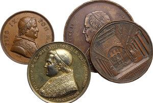 obverse: Pio IX  (1846-1878), Giovanni Mastai Ferretti. Lotto di quattro medaglie, una in argento