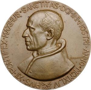 obverse: Pio XII (1938-1959), Eugenio Pacelli.. Medaglia unifacie straordinaria, emessa nel 1944 dalla Regia Zecca Italiana