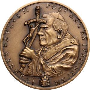 obverse: Giovanni Paolo II (1978-2005), Karol Wojtyla.. Medaglia Giubileo 2000