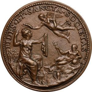 reverse: Argentina Pallavicini (m.1550), poetessa e botanica, moglie di Guido Rangoni, signore di Spilamberto.. Medaglia celebrativa, prima metà del XVI secolo