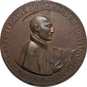 obverse: Ludovico Ludovisi (1595-1632), cardinale e arcivescovo.. Medaglia 1626 per la fondazione della chiesa di Sant Ignazio a Roma