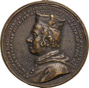 obverse: Ludovico Fernandez Portocarrero (1629-1709), arcivescovo di Toledo e vicerè e capitano generale di Sicilia . Medaglia omaggio al cardinale, 1678
