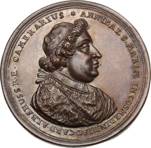 obverse: Annibale Albani (1682-1751), Cardinale. Medaglia 1711