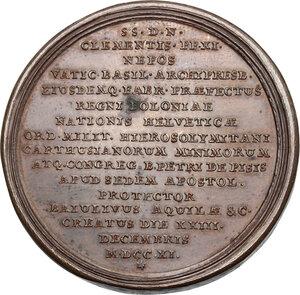 reverse: Annibale Albani (1682-1751), Cardinale. Medaglia 1711