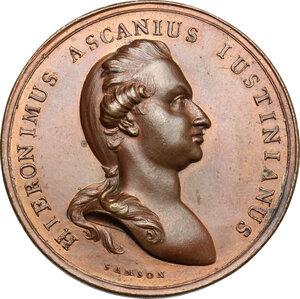 obverse: Bergamo.  Girolamo Ascanio Giustinian (1753-1787), Podestà e Vicecapitano di Bergamo.. Medaglia coniata 1782