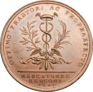 reverse: Bergamo.  Girolamo Ascanio Giustinian (1753-1787), Podestà e Vicecapitano di Bergamo.. Medaglia coniata 1782