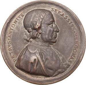 obverse: Pier Antonio Serassi (1721-1791), erudito.. Medaglia 1786