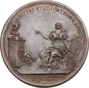 reverse: Pier Antonio Serassi (1721-1791), erudito.. Medaglia 1786
